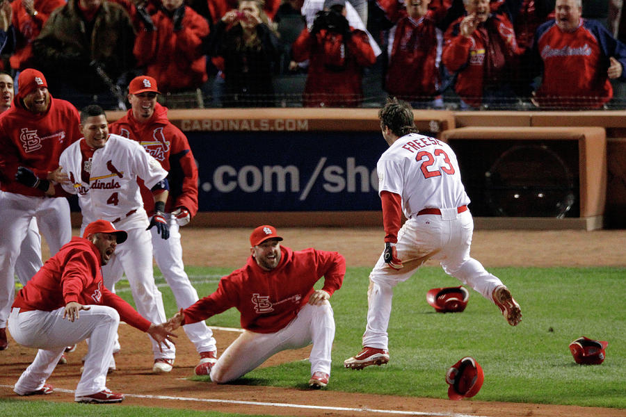 2011 World Series Game 6 - Texas Photograph by Rob Carr