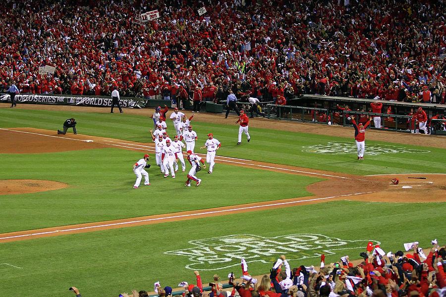 2011 World Series Game 7 - Texas Photograph by Dilip Vishwanat
