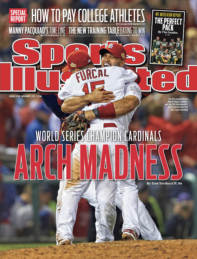 2011 World Series Game 7 - Texas Rangers V St Louis Sports Illustrated Cover Photograph by Sports Illustrated