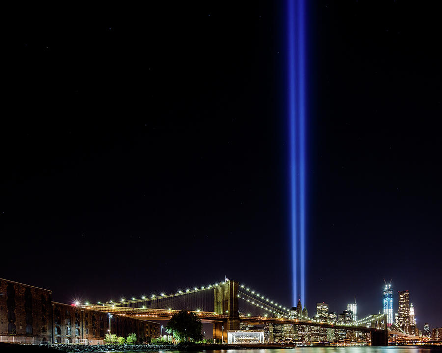 2012 Tribute In Light 911 Memorial In Photograph by Ryan D. Budhu