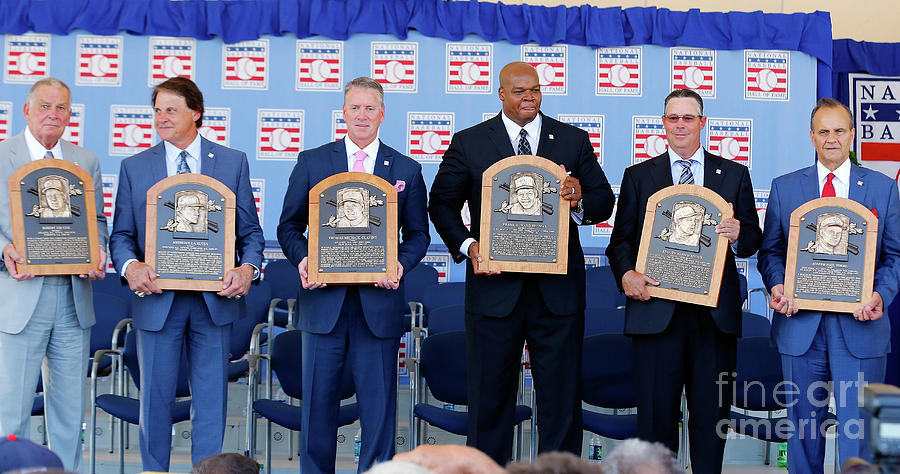 2014 Baseball Hall Of Fame Induction Photograph by Jim Mcisaac