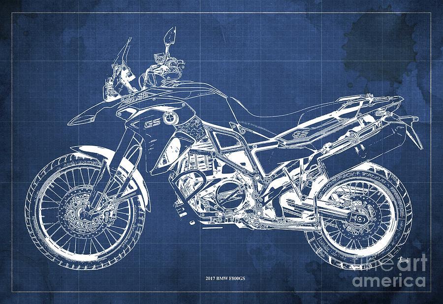 F800GS Sketch Motorcycle Motorbike Biker  T-shirt Birthday Gift