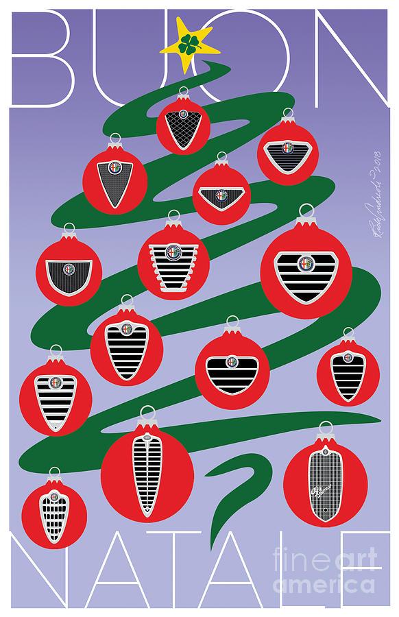 2018 Alfa Club Christmas Card by Rick Andreoli