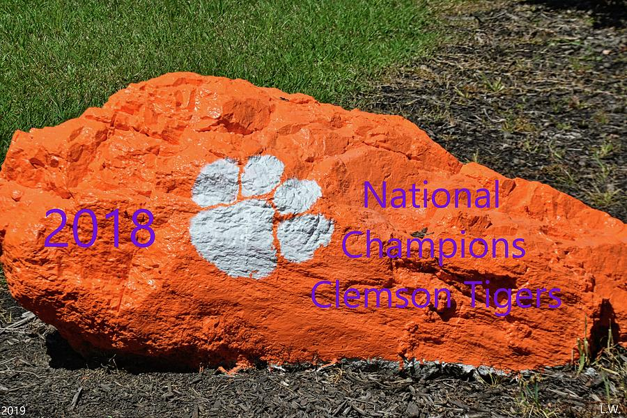 2018 National Champions Clemson Tigers by Lisa Wooten