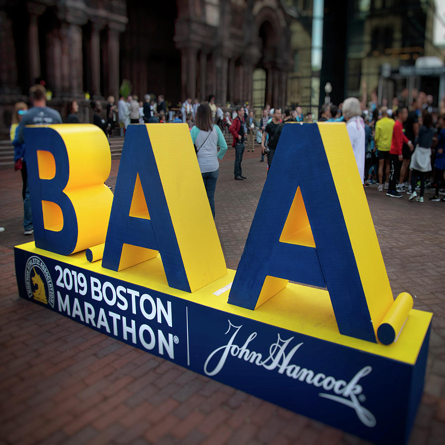 2019 Boston Athletic Association Marathon Display by Joann Vitali