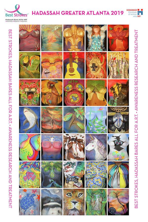 2019 Commemorative Best Strokes Poster by Best Strokes -  formerly Breast Strokes - Hadassah Greater Atlanta