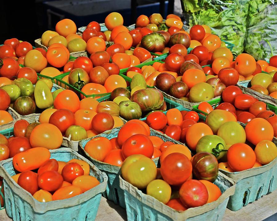 2019 Farmers' Market Spring Green Cherry Tomatoes by Janis Nussbaum Senungetuk