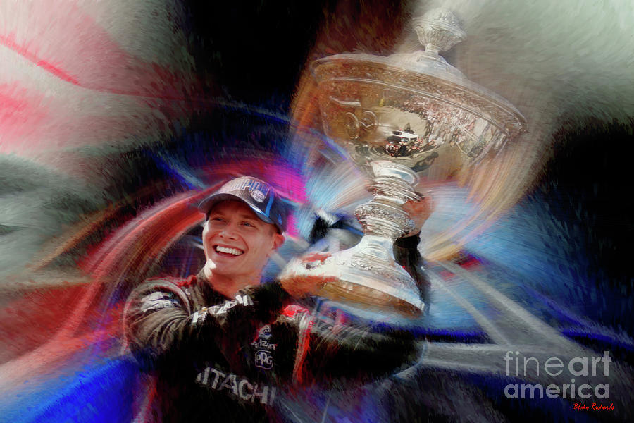 2019 Josef Newgarden Indycar Series Champion by Blake Richards
