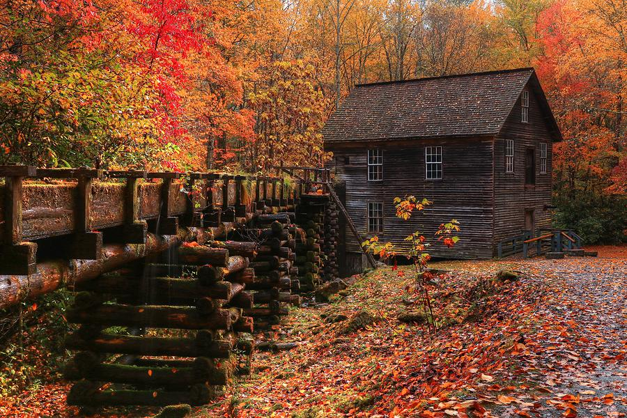 2019 Mingus Mill During Fall In The Great Smoky Mountain National Park II by Carol Montoya