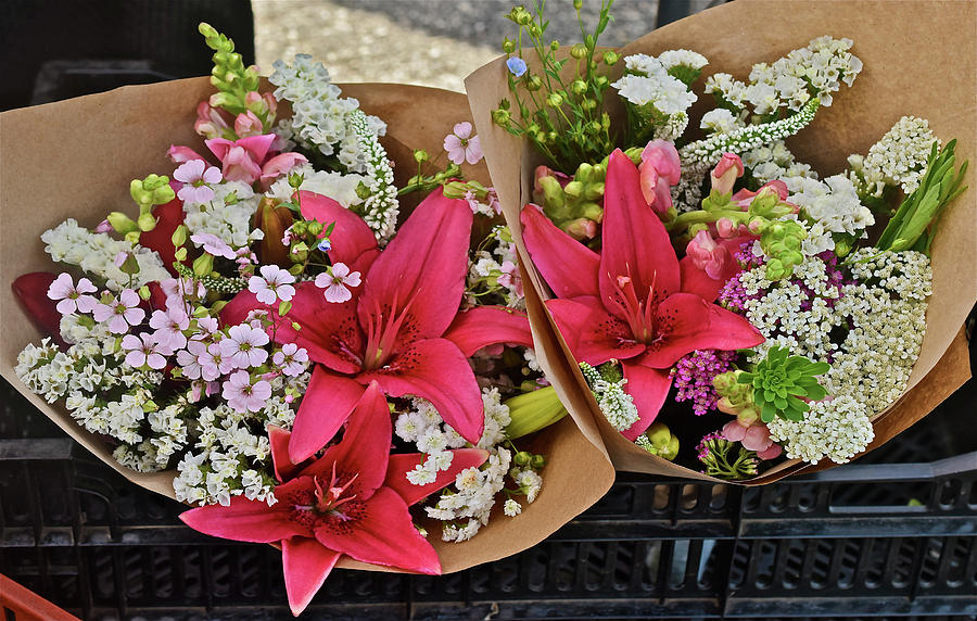 2019 Monona Farmers' Market July Bouquets 1 by Janis Nussbaum Senungetuk