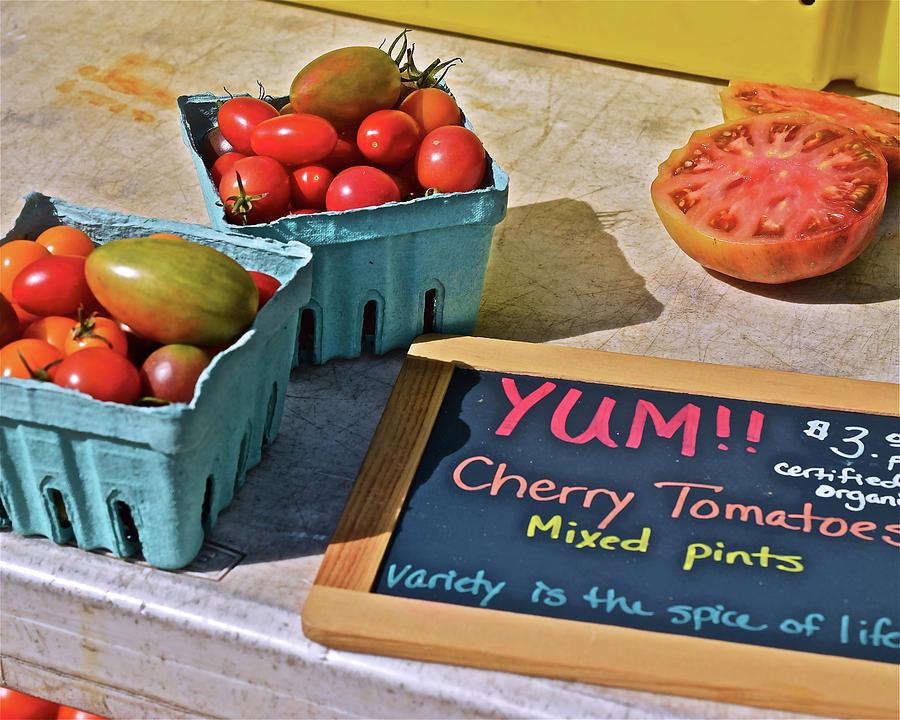 2019 Monona Farmers' Market September Cherry Tomatoes by Janis Nussbaum Senungetuk