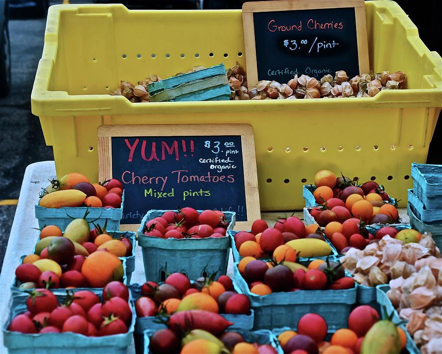 2019 Monona Farmers' Market September Ground Cherries and Cherry by Janis Nussbaum Senungetuk