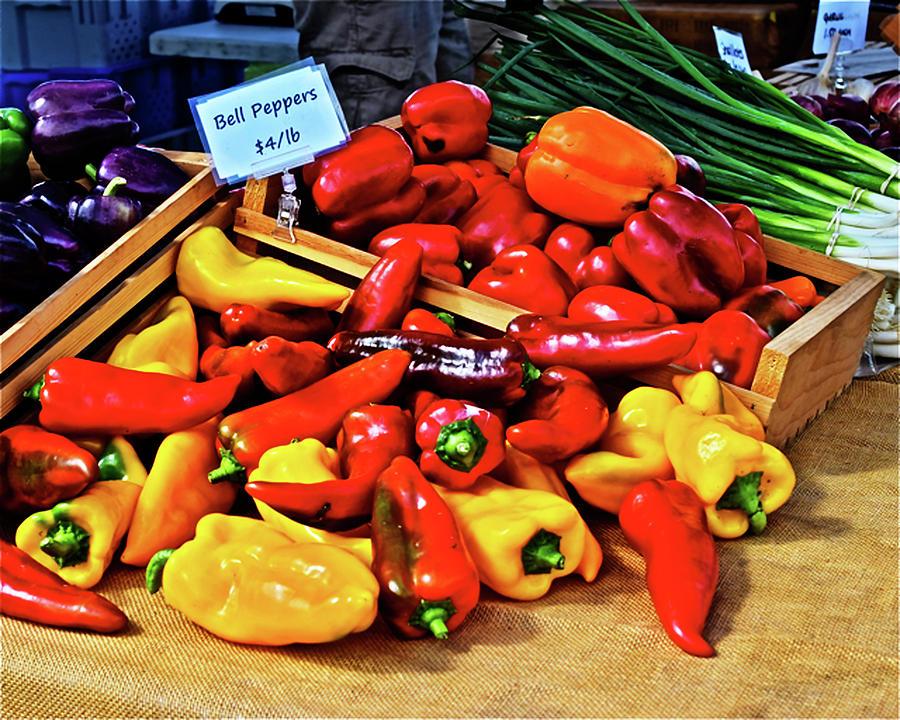 2019 Monona Farmers' Market Septembers Peppers 1 by Janis Nussbaum Senungetuk