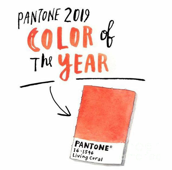 2019 Pantone Color of the year icon by L Cecka