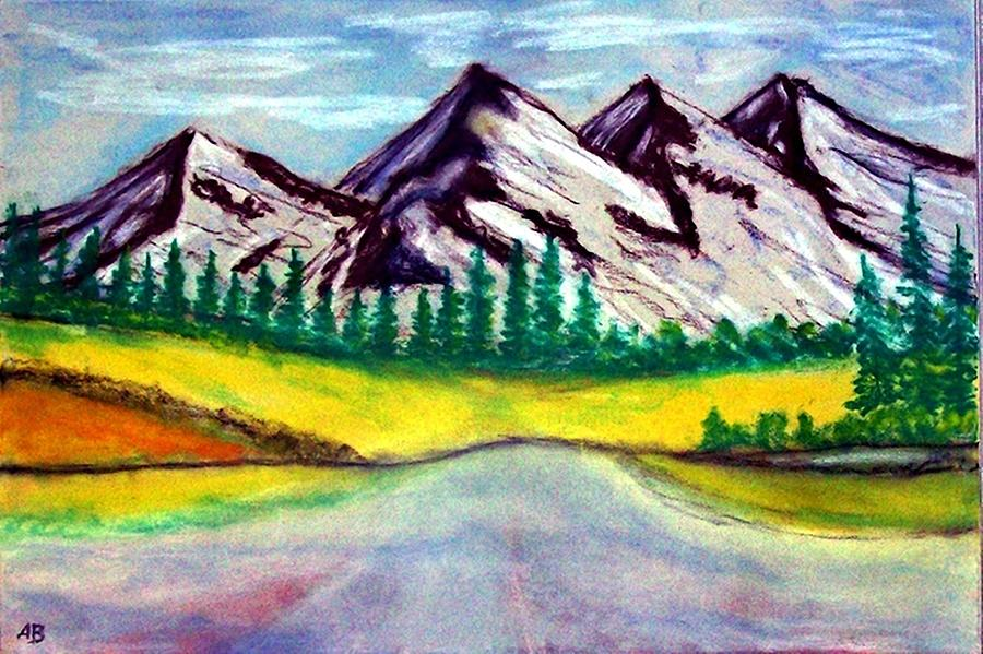 Mountains Painting - 2019#01_mountain Lake by Armin Behnert