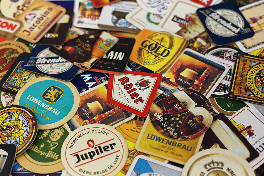 Beer coasters background Photograph by Benjamin Dupont