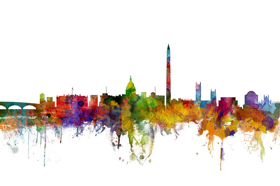 United States Digital Art - Washington DC Skyline by Michael Tompsett