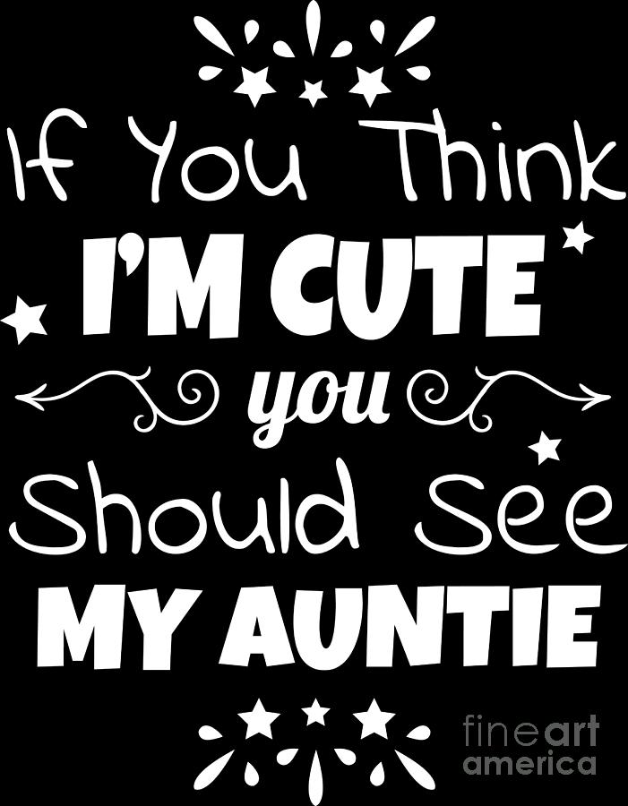Baby Aunt Auntie Godmother Birth Birthday Gift Digital Art By Haselshirt