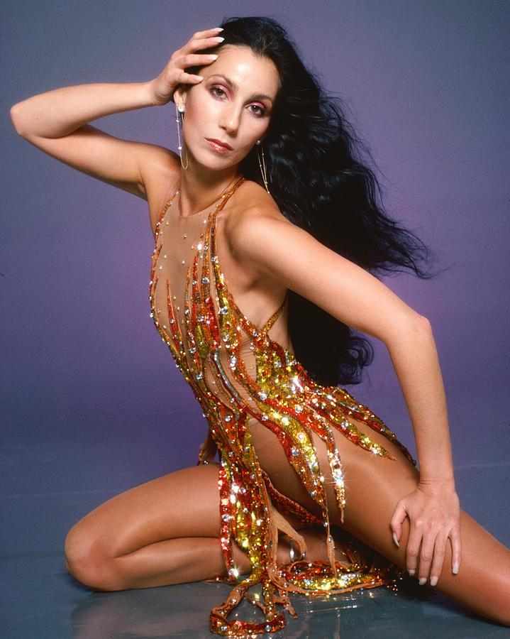 Cher Portrait Session Photograph by Harry Langdon