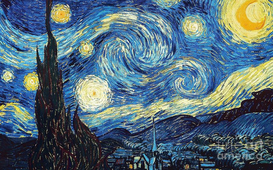3f4e49408f Starry Night By Van Gogh Painting by Vincent Van Gogh