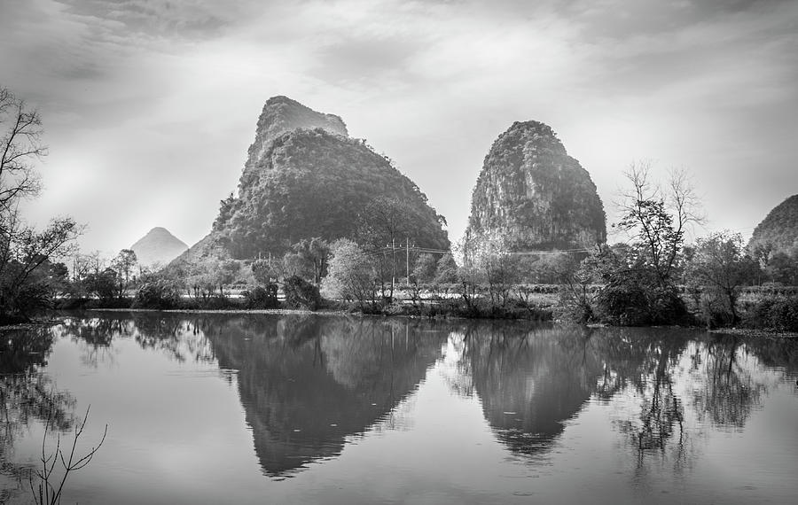 Mountain Photograph - The Mountains And Countryside Scenery In Spring by Carl Ning