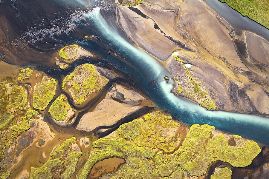 Iceland Aerial View Photograph by Werner Van Steen