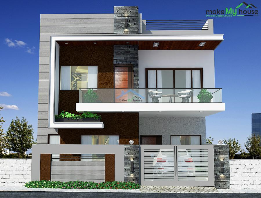 26 By 50 House Plan Front Elevation Drawing By Make My House