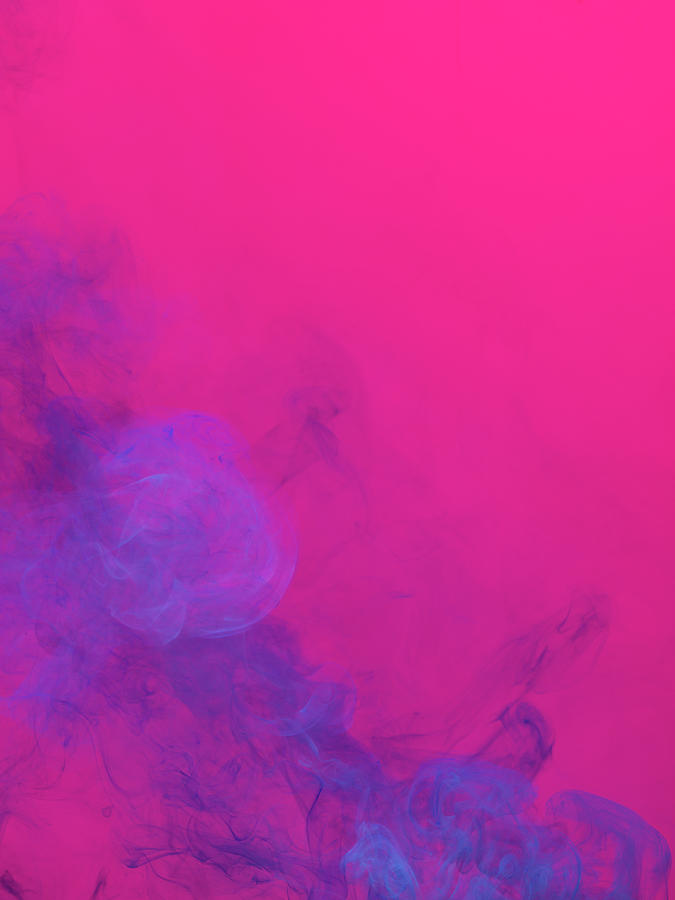 Purple Photograph - Colored Smoke by Henrik Sorensen