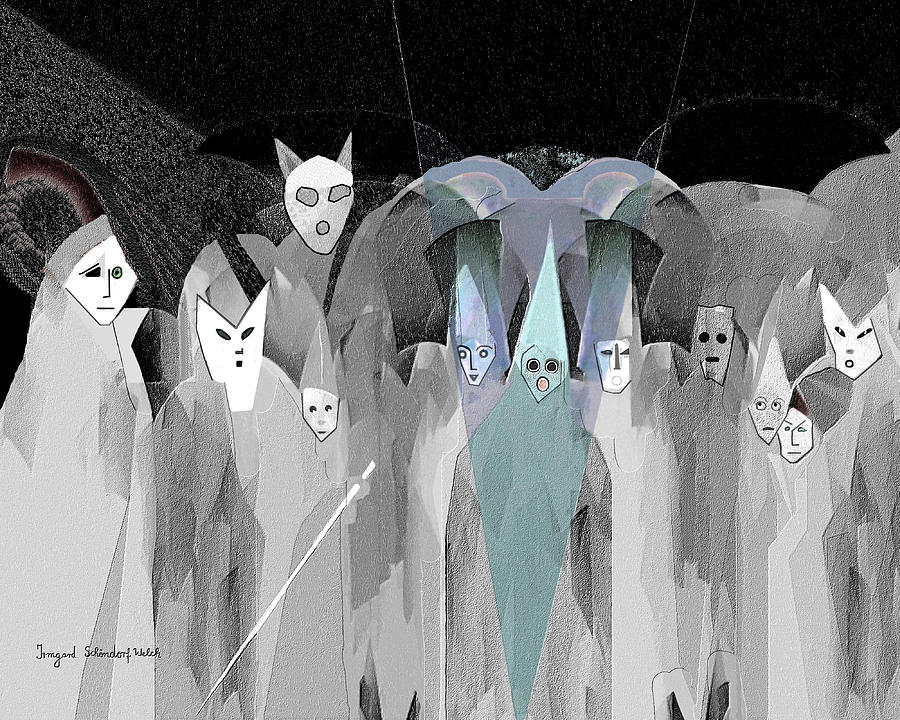 Pale Digital Art - 2950  Trick Or Treat by Irmgard Schoendorf Welch