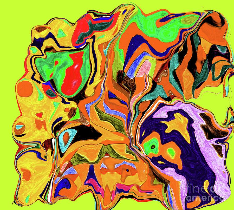 3-19-2010wabcdefghiklmnop Digital Art by Walter Paul Bebirian