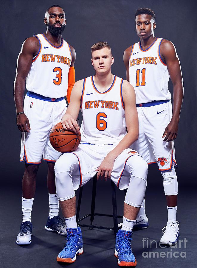 2017-18 New York Knicks Media Day Photograph by Jennifer Pottheiser