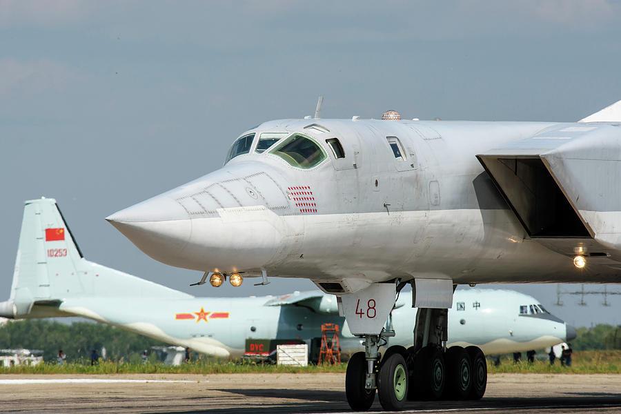 Outdoors Photograph - A Russian Aerospace Forces Tu-22m-3 by Daniele Faccioli