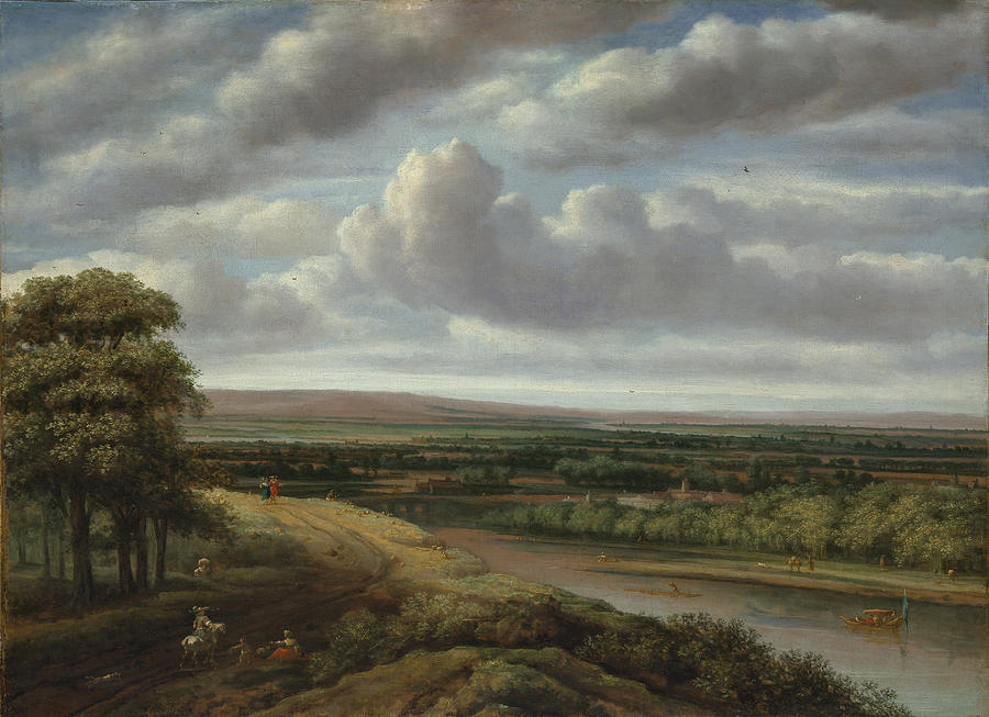 An Extensive Wooded Landscape by Philips Koninck