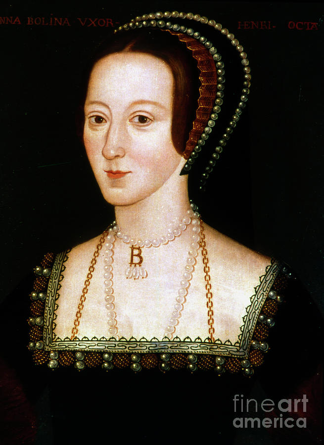 Anne Boleyn, Second Wife Of Henry Viii Drawing by Print Collector
