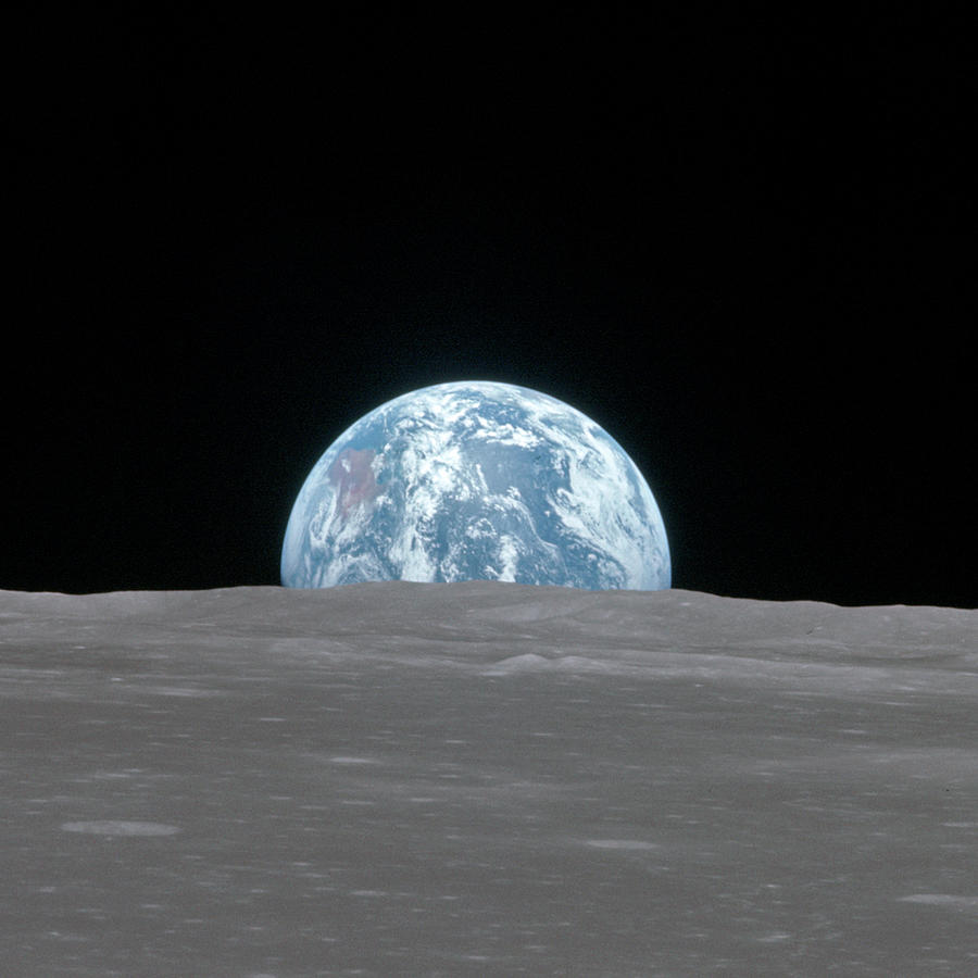 1969 Photograph - Apollo 11, Earthrise, 1969 by Science Source