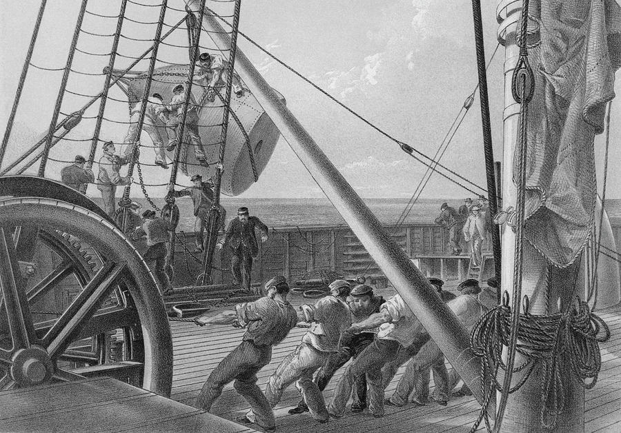 Atlantic Cable Laying Photograph by Kean Collection