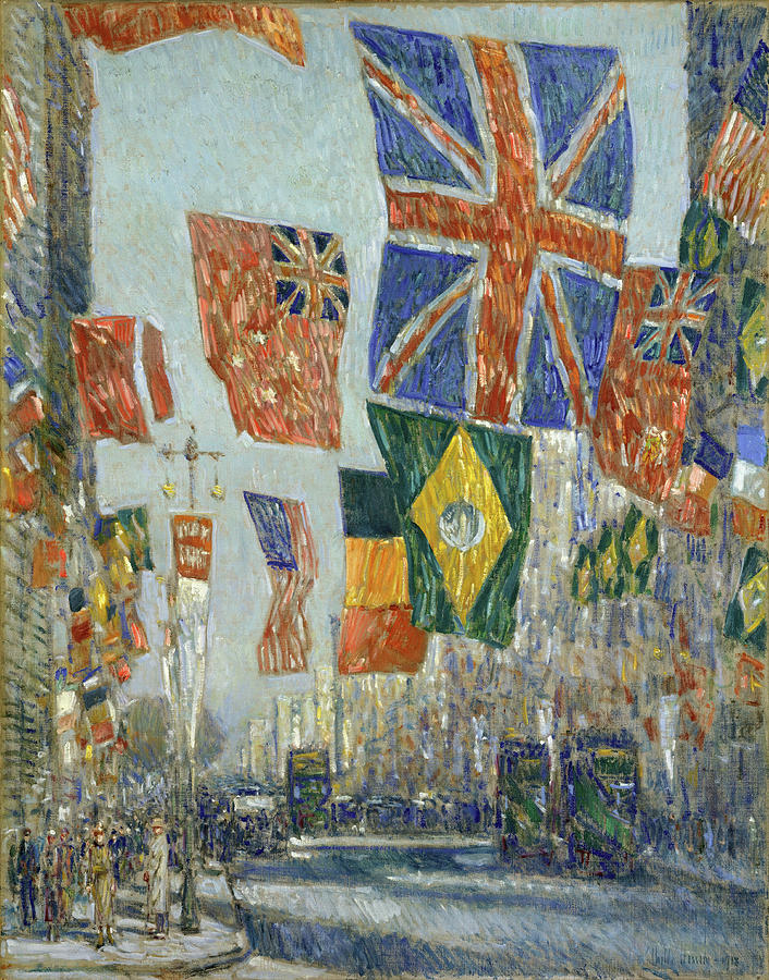 Avenue of the Allies, Great Britain, 1918. by Childe Hassam