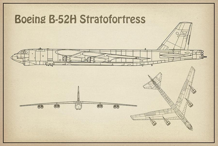 b 52 stratofortress airplane blueprint drawing plans or schematics b 52 stratofortress airplane blueprint drawing plans or schematics for boeing b 52h stratofortres