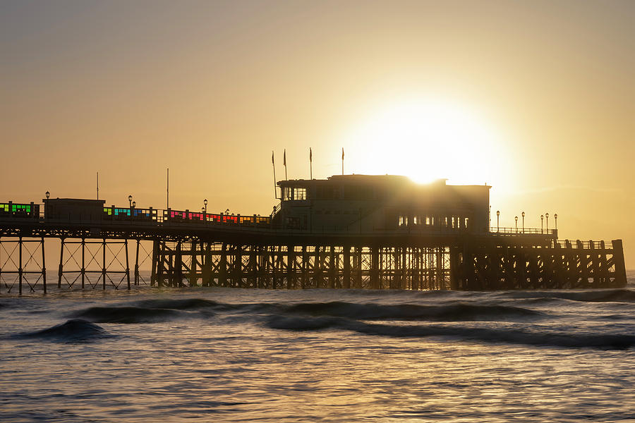 Landscape Photograph - Beautiful Vibrant Sunrise Landscape Image Of Worthing Pier In We by Matthew Gibson