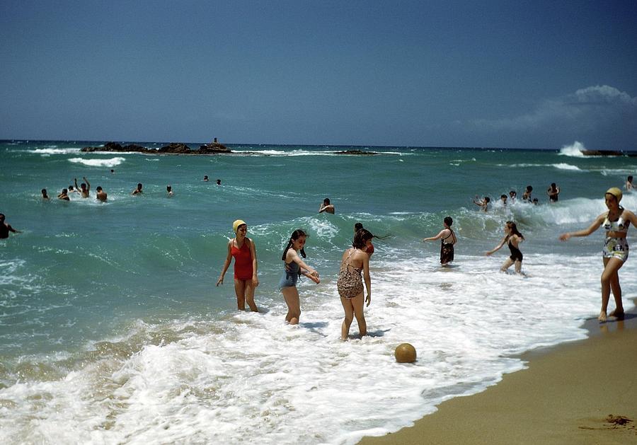Beirut Beach Lebanon Photograph by Michael Ochs Archives