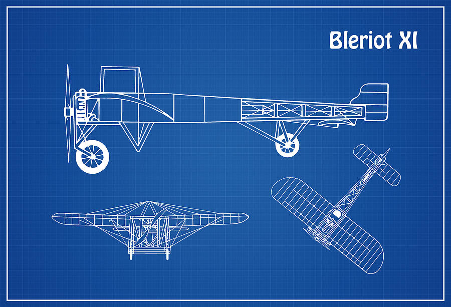 bleriot xi airplane blueprint drawing plans or schematics with f-4 phantom schematics bleriot xi drawing bleriot xi airplane blueprint drawing plans or schematics with design outline