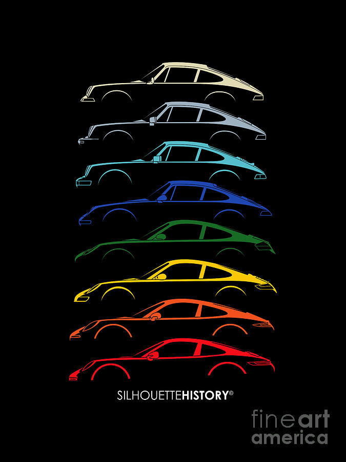 Boxer Sports Car SilhouetteHistory by Gabor Vida