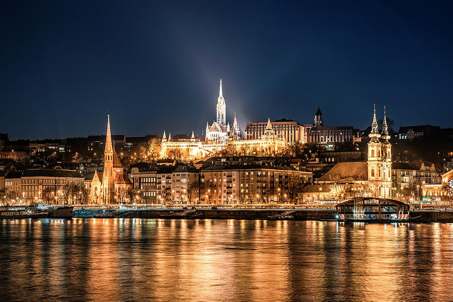Budapest at Night by Svetlana Sewell