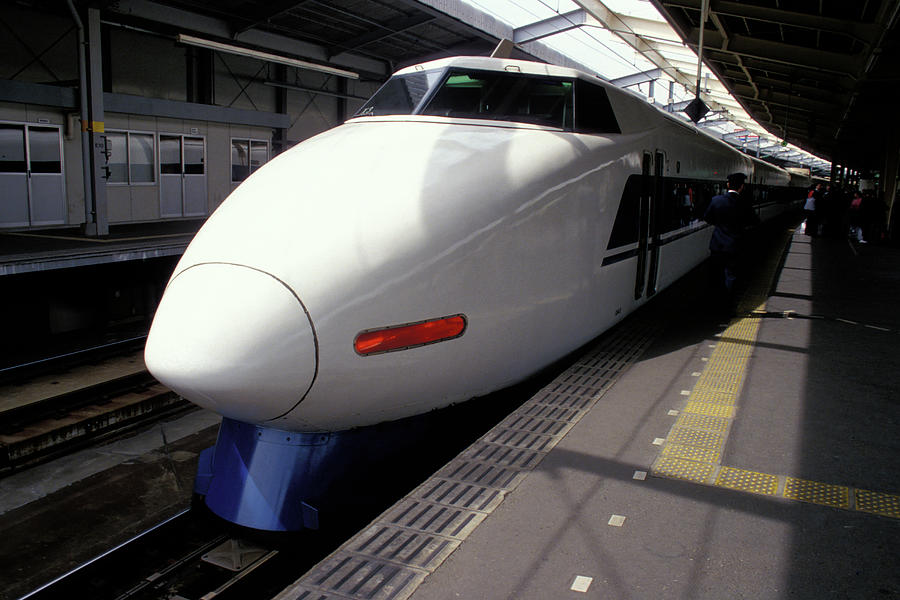 Bullet Train in Japan by Carl Purcell