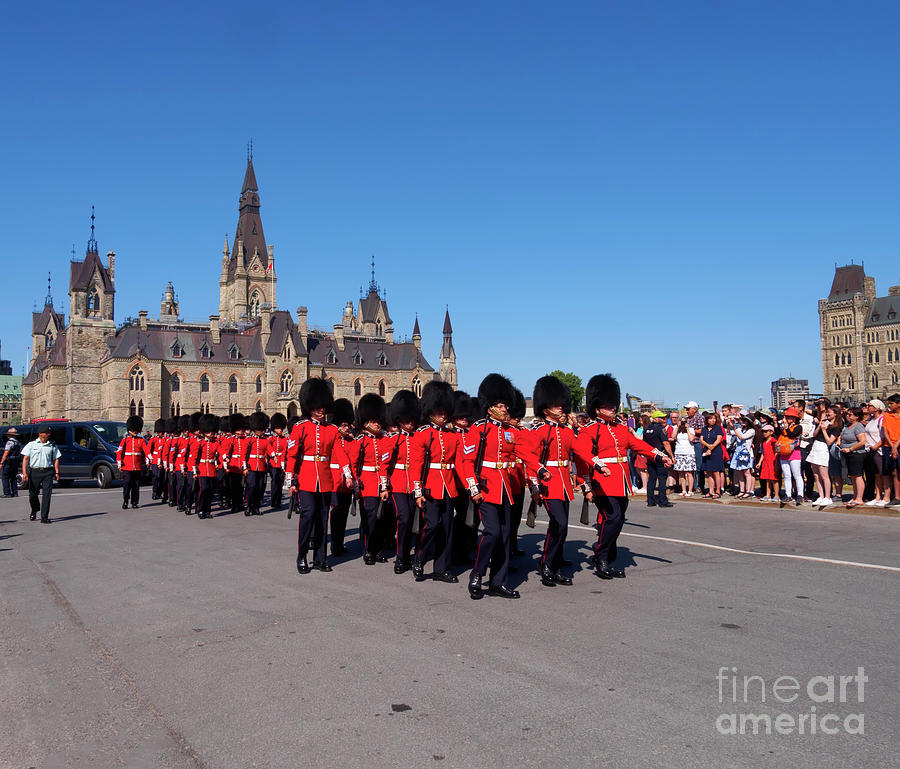Changing Of The Guard Photograph - Changing Of The Guard In Ottawa Ontario Canada by Louise Heusinkveld