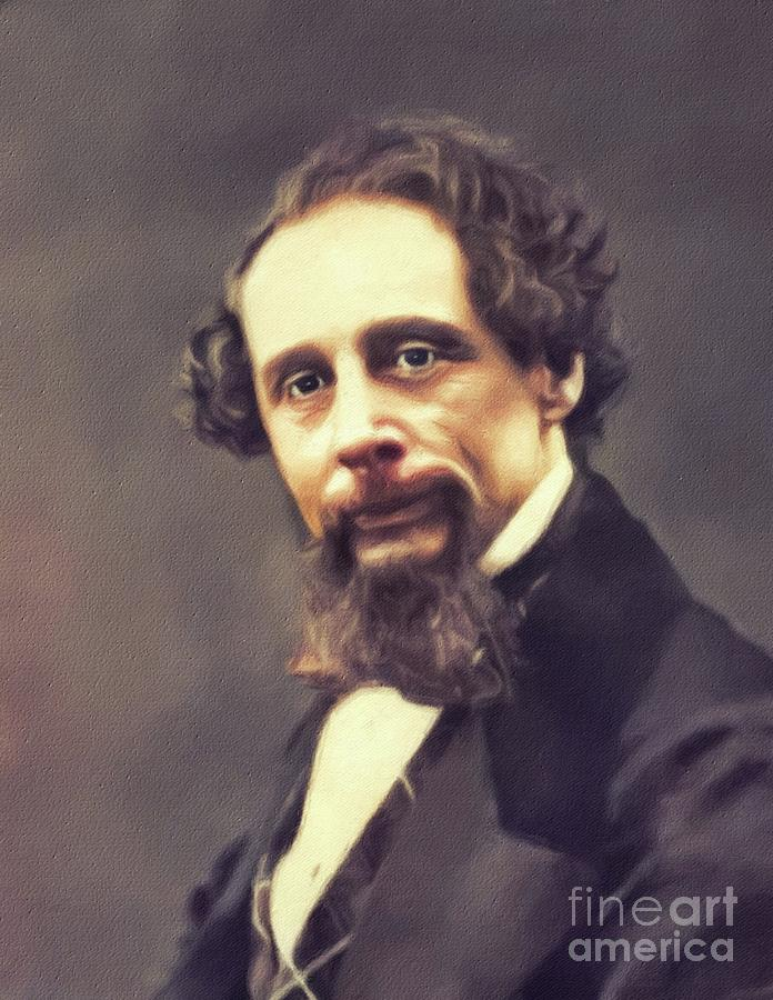 Charles Painting - Charles Dickens, Literary Legend by John Springfield