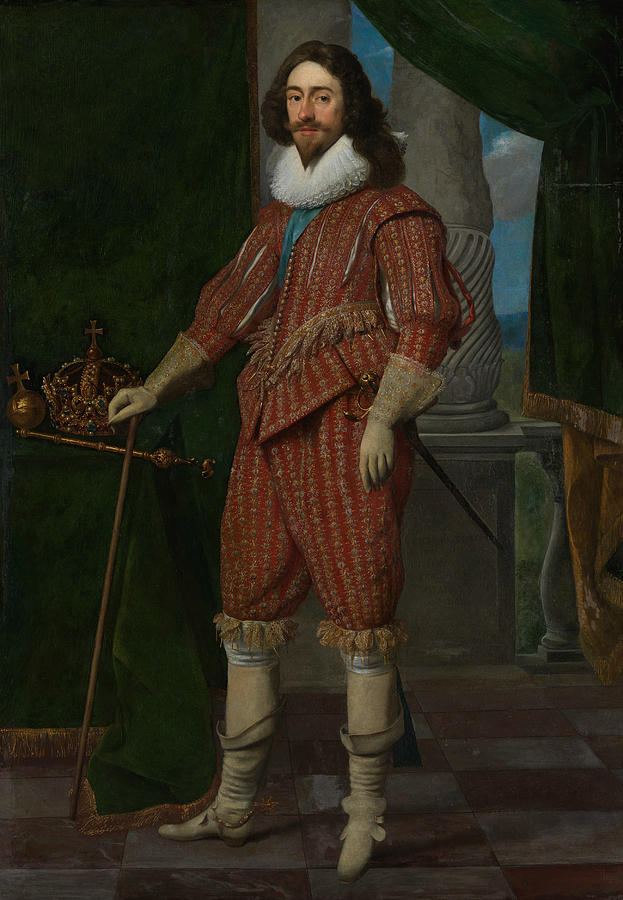Dutch Artists Painting - Charles I, King Of England by Daniel Mijtens