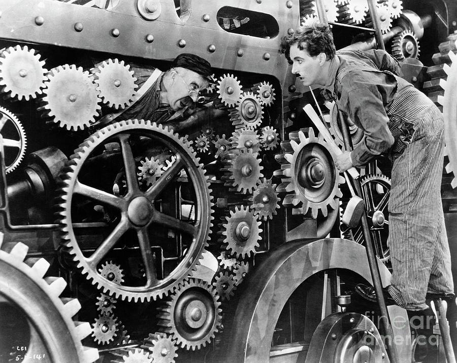 Charlie Chaplin In Modern Times Photograph by Bettmann