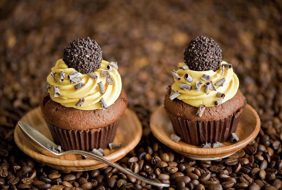 Chocolate Cupcakes Photograph by Verdina Anna