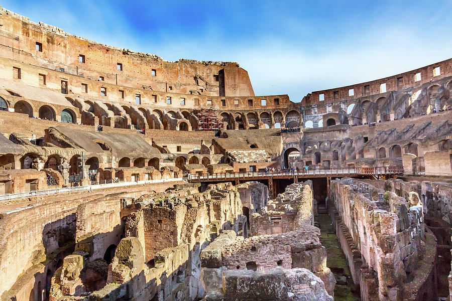 Amphitheater Photograph - Colosseum, Rome, Italy by William Perry